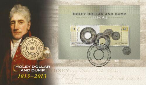 Holey Dollar and Dump 2013 Australia $1 UNC Coin PNC