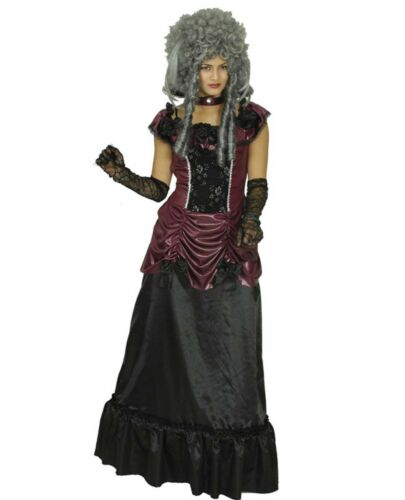 36 38 40 42 Vampir Kostüm Vampirin Vampirkleid Barock Halloween Gr
