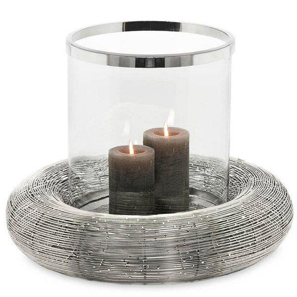 Edzard viento luz verona plata con vidrio