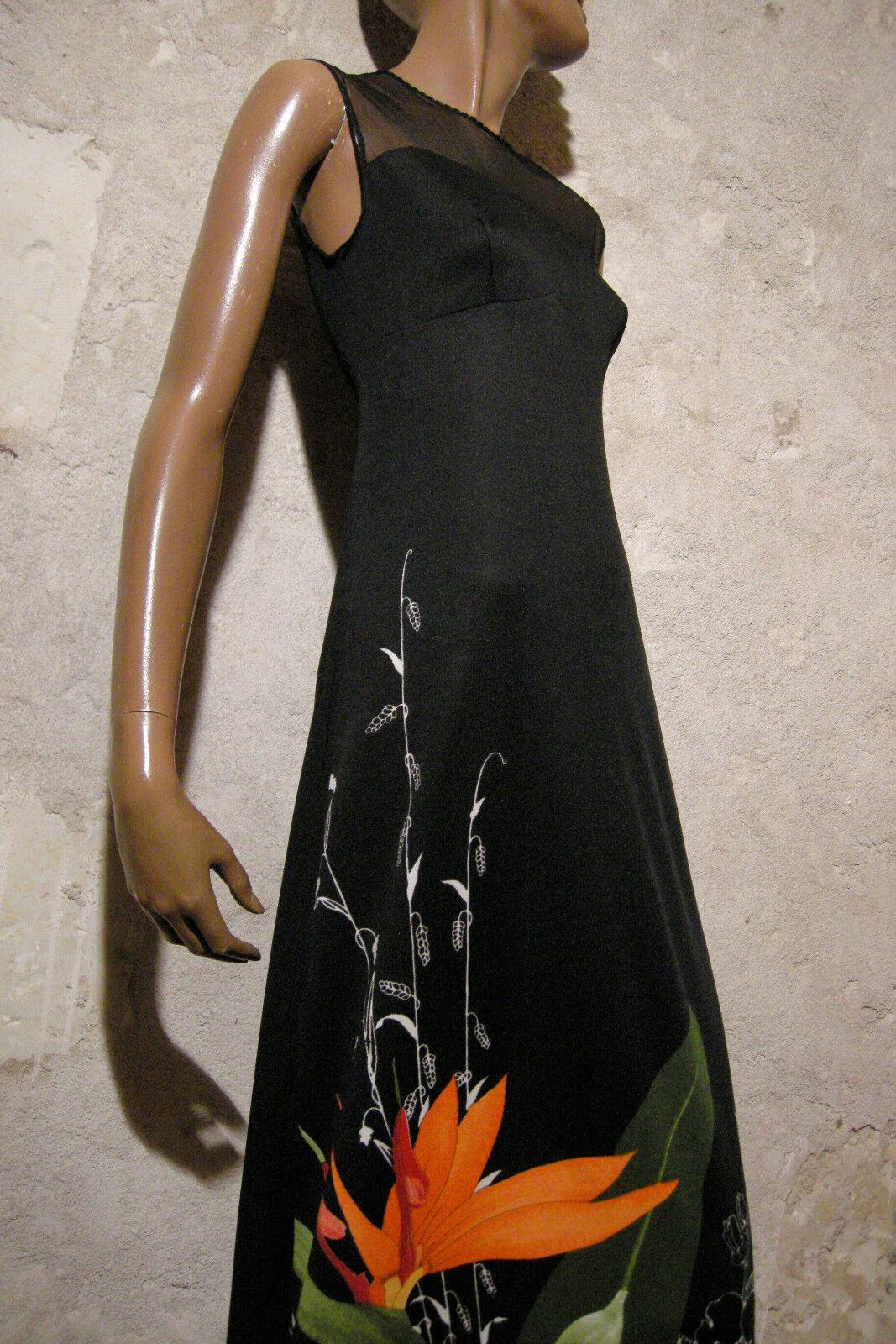 Schick Vintage Langes Kleid 1970 Vtg Maxi 70s 70er Abito-Anni 70 (36)