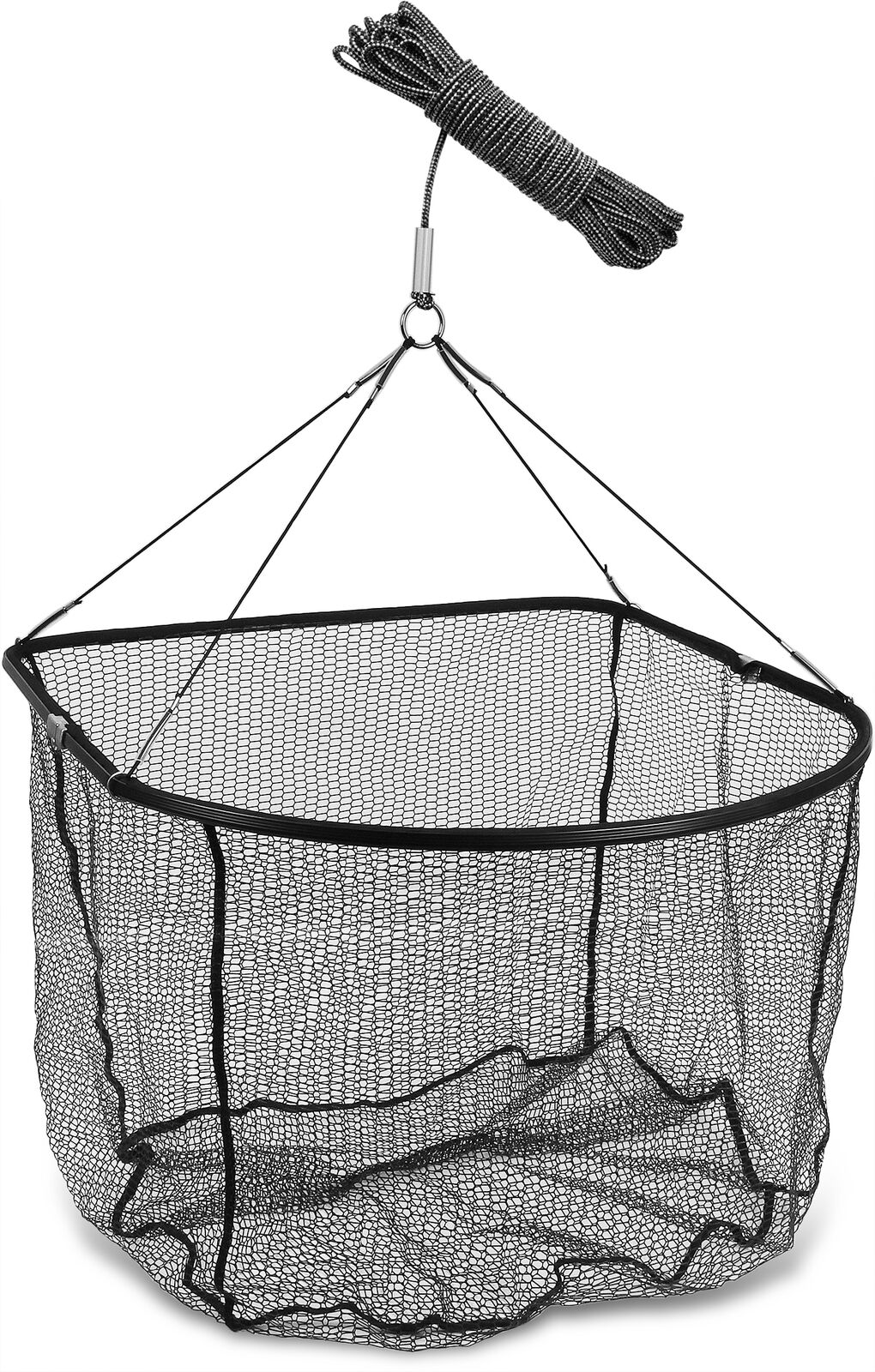 Bung Wall net with 20 M Rope, Foldable, rubberised net, Aluminium Frame