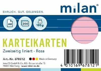 Karteikarten A8 liniert rosa Milan; #Karteikarten# 678012