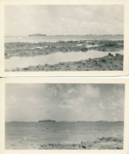 WWII-1945-USAAF-39th-Fighter-Squadron-airman-039-s-Okinawa-2-photos-Ships-Naha-Bay
