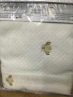 Capecchi Italy Bee Logo Embroidered Euro Standard Sham Diamond Pique 26 X 26