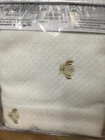 Capecchi Italy Bee Logo Embroidered Euro Standard Sham Diamond Pique 26 X 26