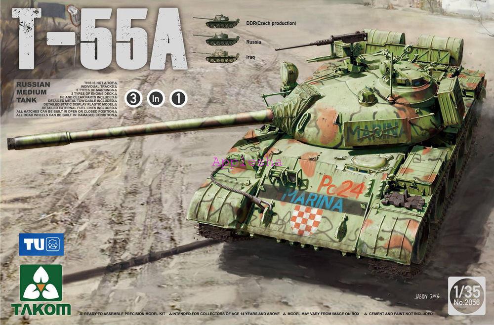 Takom 2056 1 35 Russian Medium Tank T-55A
