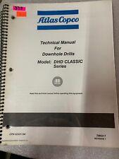 52342755 Atlas Copco Dhd Series Technical Manual Downhole Drill 375