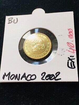 10 Cent Euro Monaco 2002 Bu Noch Te Hard Noch Te Zacht