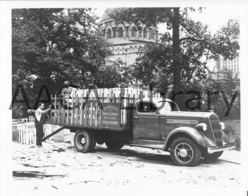 Ref. #77961 Factory Photo 1937 Studebaker J30 Contractors Stake Truck