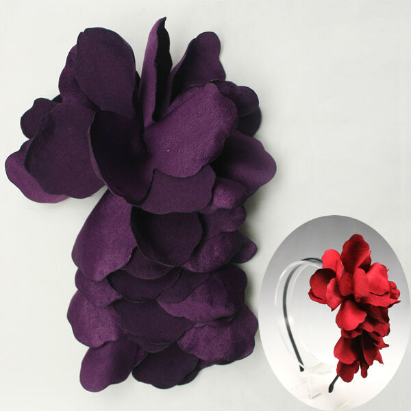 Flower Appliques Millinery Trim Brooch Corsage bow craft Hair Accessories Hat #7