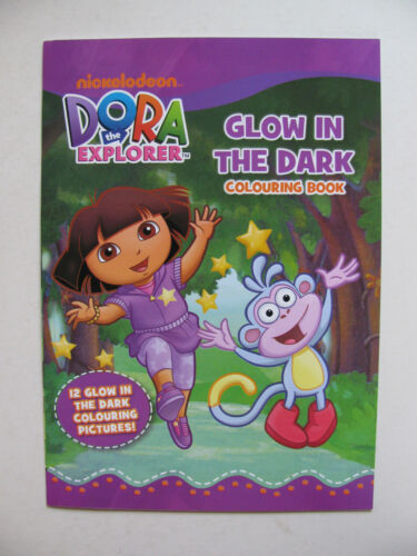 Glow In The Dark Colouring Book Dora Colour Various Kids Fun Coloring Activity