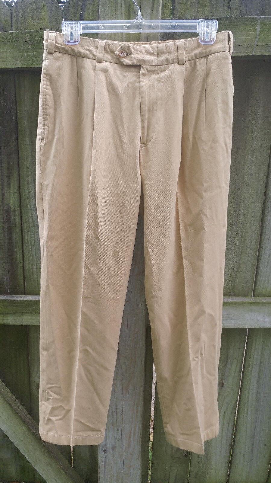 Bills Khakis M2 P pleated standard fit men size 34 x 31 driving twills NWOT