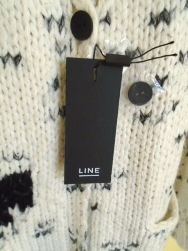 Cardigan Large Nwt Nash Taille maille Line en intarsia BBrz5nT