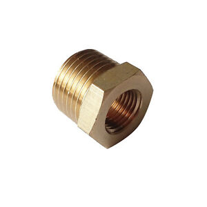 1-4-034-BSPT-Male-1-8-034-Female-NPT-Adapter-Brass-Pipe-Fitting-Reducing-Bushing