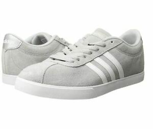 NEW-Women-039-s-Adidas-Courtset-Sneaker-Synthetic-Leather-Women-039-s-Athletic-Shoe-Grey