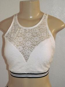 8315c6d9ddbc8 NWT HOLLISTER WOMENS GILLY HICKS OFF WHITE BLACK LACE BRALETTE ...