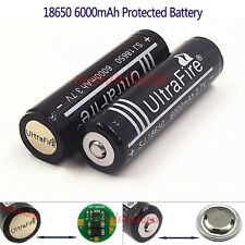 2X18650 6000mAh Protected Li-ion Rechargeable Battery Built-in Protection Board