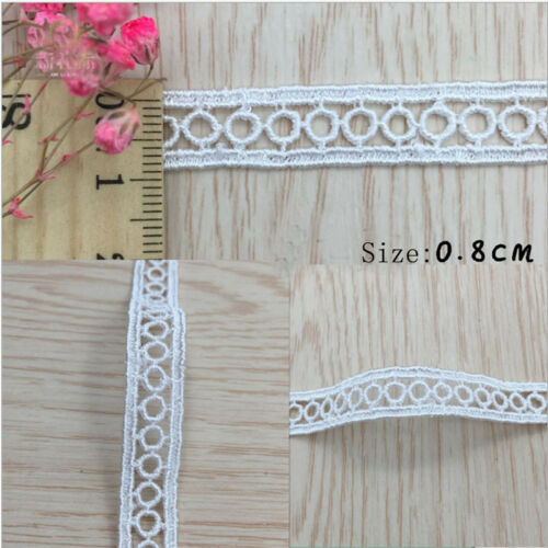 1-10Yrds Vintage Embroidered Lace Edge Trim Ribbon Wedding Applique DIY Sewing