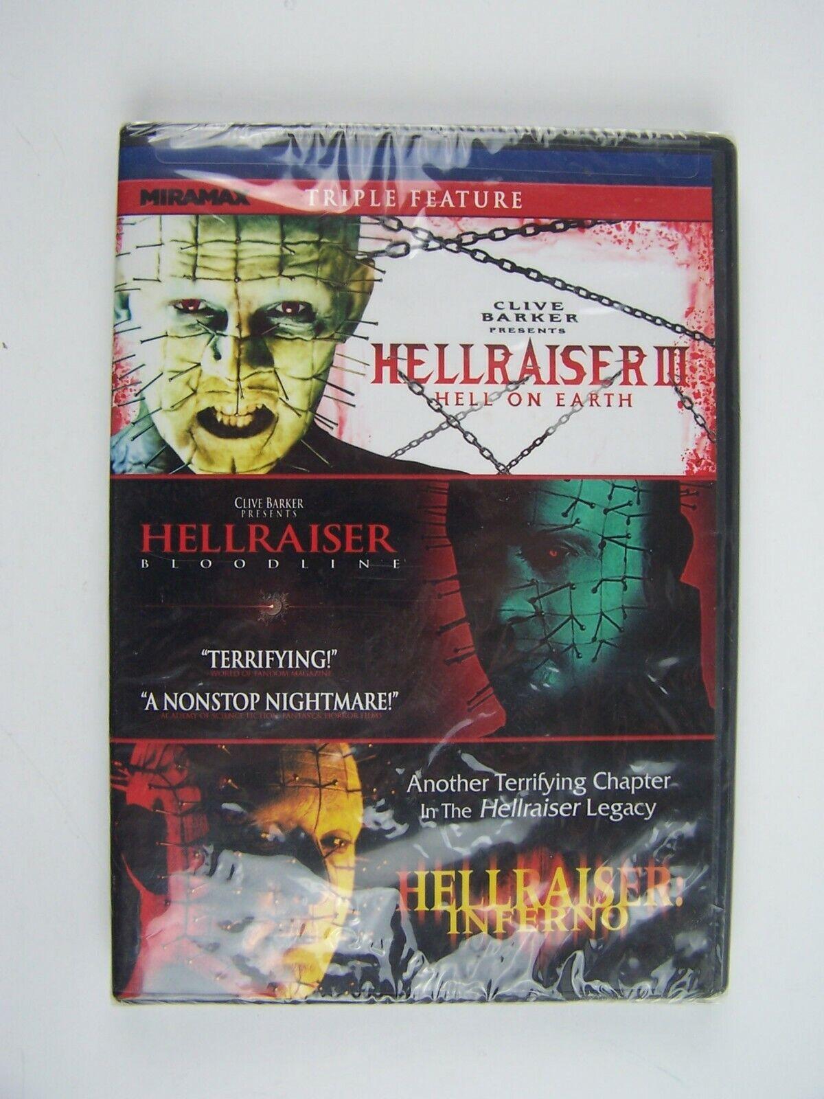 Hellraiser Triple Feature DVD III: Hell on Earth / IV: