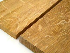 Quarter Sawn English Oak wood boards.  Tiger Oak planks, cabinet, joinery, qtr.