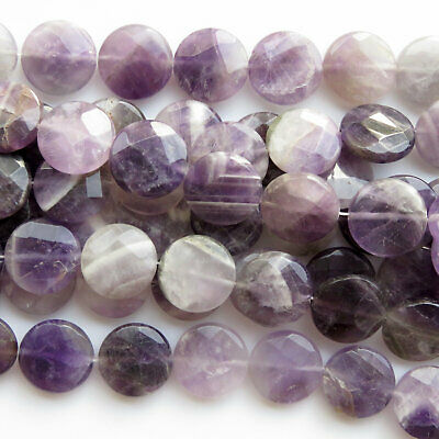 "15/"" Strand 8mm Round Natural Purple Banded Amethyst Gemstone Beads"