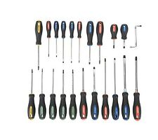 22 Piece Deluxe Screwdriver Set Double End Heads & Slotted Star Square Philips