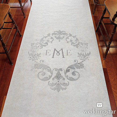 Monogram Simplicity PERSONALIZED Aisle Runner Wedding Ceremony Decoration