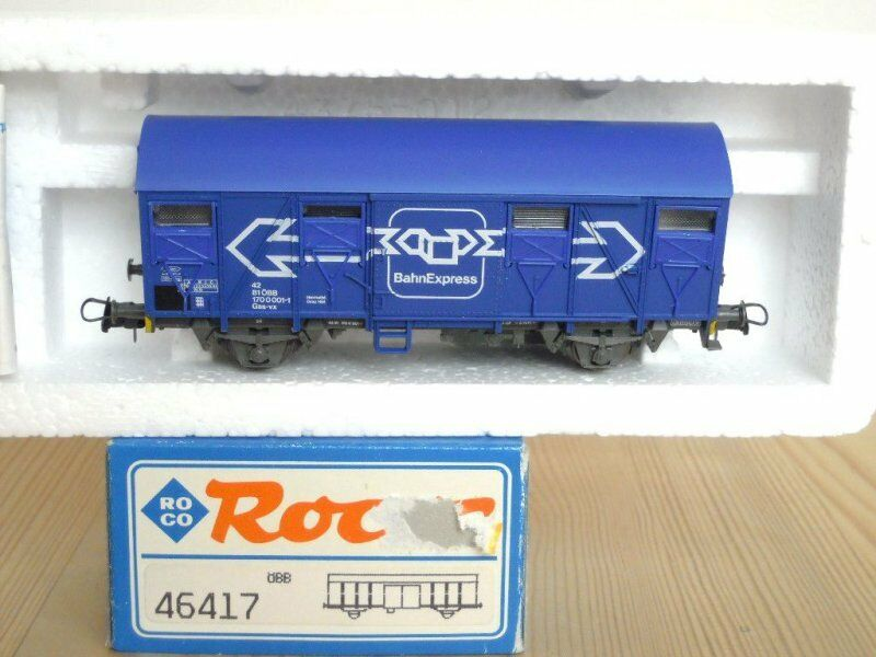 Roco 46417 Covered Goods Wagon Gss-Vx the ÖBB Ep. 4 5   Bahnexpress   Boxed