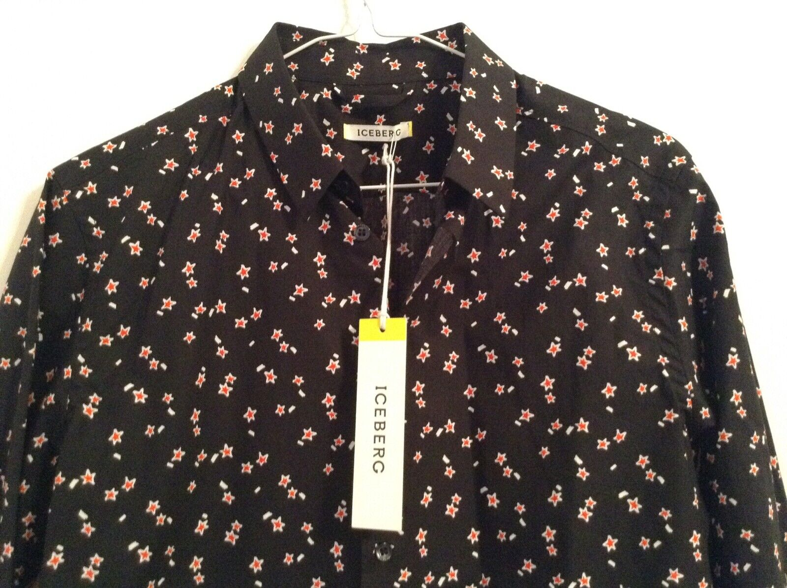 BNWT 100% Auth ICEBERG, Mens Iconic Star Print Shirt S RRP