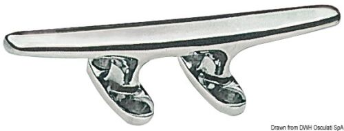 """Stainless Steel 250mm 9/"""" Cleat Mooring Hook Marine Sailing Boat Deck  CLMR250"""