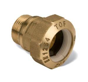 TOF-Raccordo-ottone-maschio-32X1-034-M-giunto-acqua-gas-raccorderia-idraulica