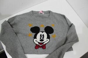 Neu Monnalisa Pulli Mickey Mouse Pullover grau ❤️ 140 im