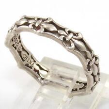 Sterling Silver Fleur De Lis Eternity Band Ring Size 6