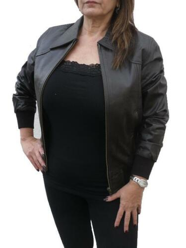 100/% Real Leather Exclusive Fitted Ladies Womens Girls Jacket Coat Biker Style