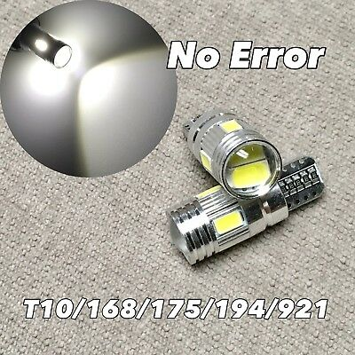 LED W1 WHITE 2X LICENSE PLATE TAG LIGHT BULB T10 158 161 168 194 2825 3652 w5w a