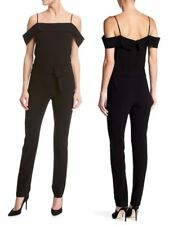 c165e141e758 item 4 Theory Off the shoulder admiral crepe black jumpsuit NWT 00  475.00 -Theory  Off the shoulder admiral crepe black jumpsuit NWT 00  475.00
