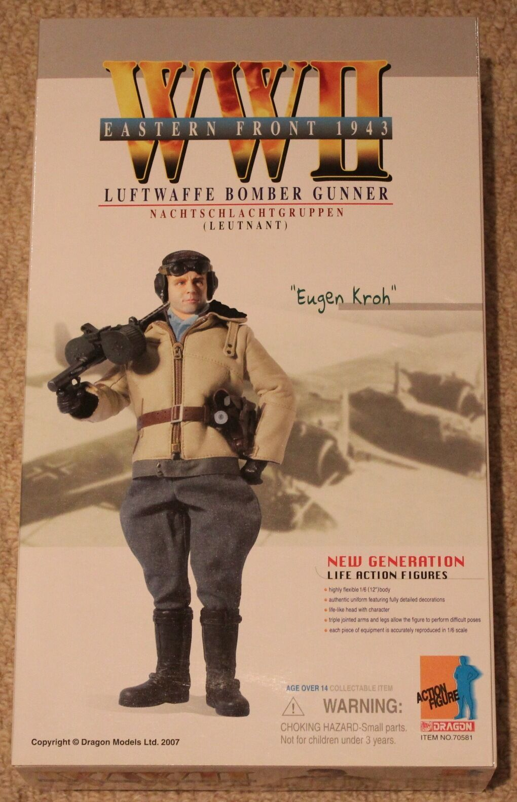Dragon action figure 1 6 ww11 german eugen 70581 12'' boxed did cyber hot toy