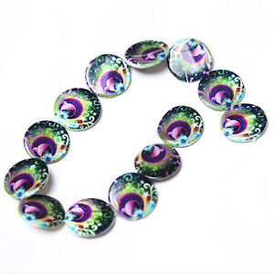 1string-110382-Peacock-Oblate-Flat-Disc-Faux-Shell-Loose-Beads-30x3mm