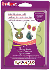 Sculpey Bakeable Silicone Mold  Jewelry Cabochon Shapes Set Bake Mold in Oven