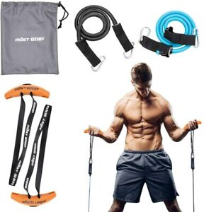 Pull-up Barbell Exercise Resistance Band Handle Grip Strength Sling Trainer HOT