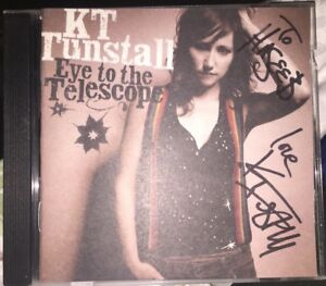 KT-TUNSTALL-SIGNED-EYE-TO-THE-TELESCOPE-CD-ALBUM-FOLK-ROCK-AUTOGRAPH-TO-HASEEB