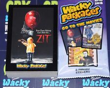 2018 WACKY PACKAGES GO TO THE MOVIES COMPLETE SET 90 STICKER CARDS FREE WRAPPER