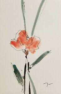 JOSE-TRUJILLO-Botanical-Art-ORIGINAL-Watercolor-Painting-ABSTRACT-ART-6X9