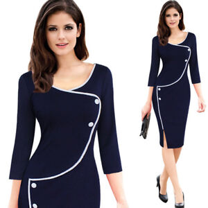 Fashion Women Back Zipper Formal Office