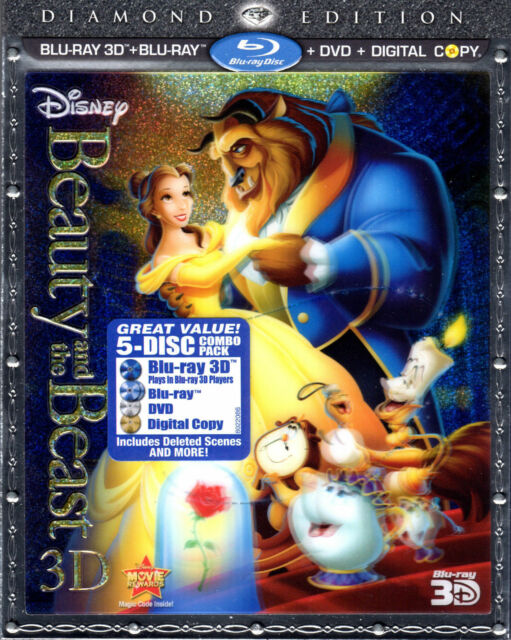 Beauty and the Beast 3D - Lenticular Slipcover - 5 Disc Combo