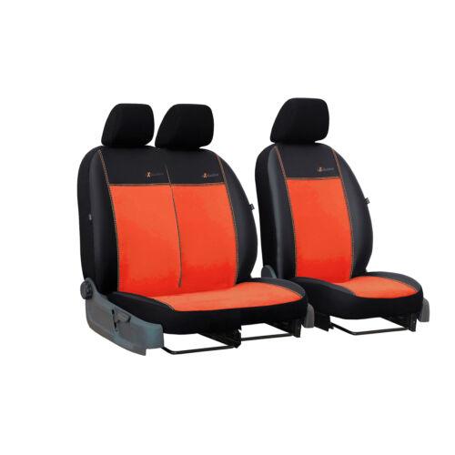 Universal Sitzbezüge Orange für Renault Trafic bis 07 BUS 1+2 Schonbezüge Auto