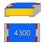 SMD-Widerstand 430 Ohm 1/% 0,1 W Bauform 0603 gegurtet