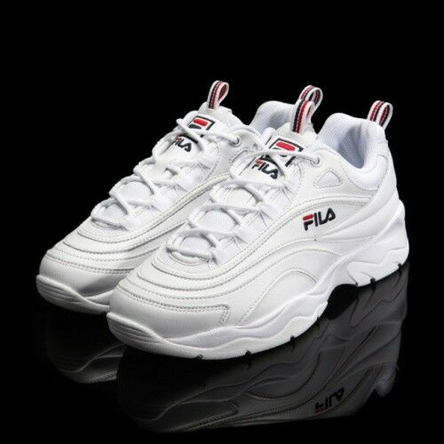 New FILA Womens RAY FS1SIA1160X WHITE UNISEX SIZE FILA RAY HERITAGE Top Shose Comfortable and good-looking