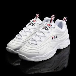 Details about New FILA Womens RAY FS1SIA1160X WHITE UNISEX SIZE FILA RAY HERITAGE Top Shose