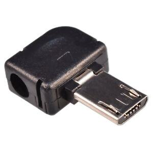 Micro-USB-5-polig-Winkel-Stecker-Lotstecker-Werkzeugfreie-Krimp-Montage-DIY
